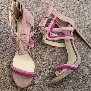 Strappy tie up heel sandals 👡